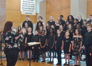 Choir Students Singing